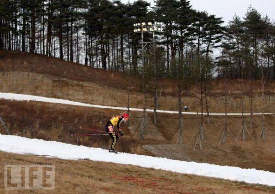平昌 雪がない スキー場