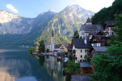 本物 オーストリア 世界遺産 ハルシュタット