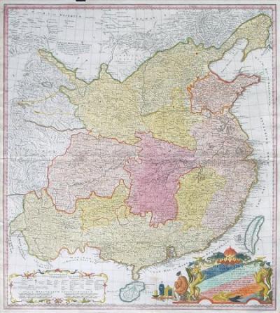 メルケル 1735年中国地図