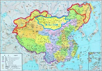 中国古地図 ロアシアへ割譲前