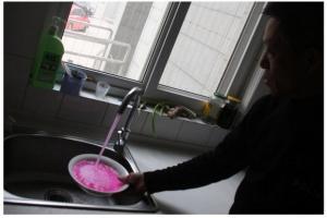 水道水 ピンク