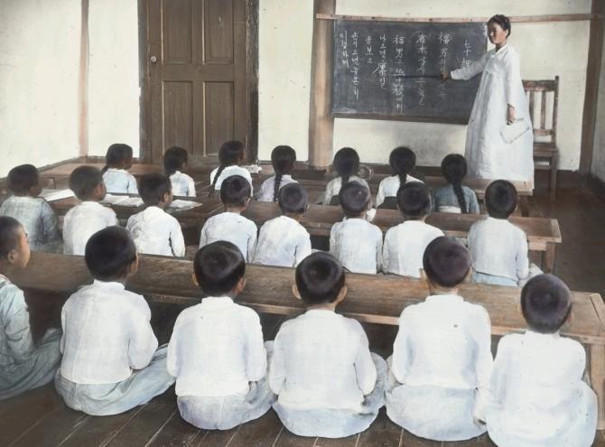 日韓併合時代 学校 授業 ハングル