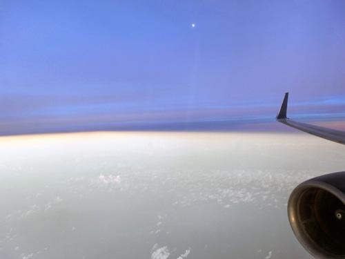 帰りの飛行機より1cc