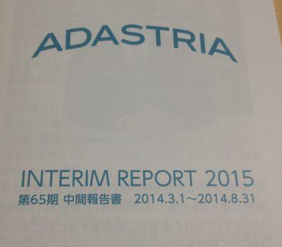 2685 アダストリアHD 株主報告書