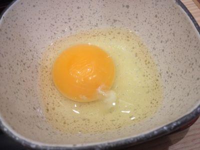 牛すき鍋膳 生卵