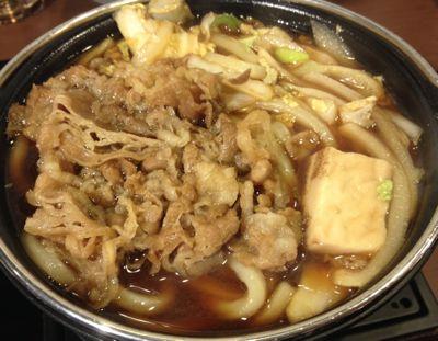 牛すき鍋うどん