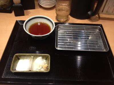 天ぷら定食の準備