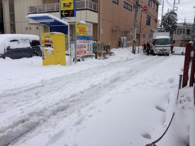 大雪の翌日