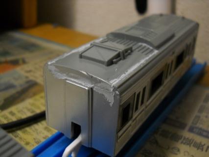 プラレール223系5000番台製作記その1 似てない顔を近づける