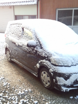 201403073月だけど 雪降りです。2