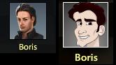 Borisの顔比較