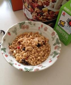 シリアル朝食