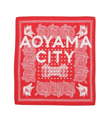 AC34 BANDANA AOYAMA CITY RED_R