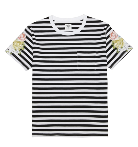 CS06 BORDER FLOWER TEE BLK_R