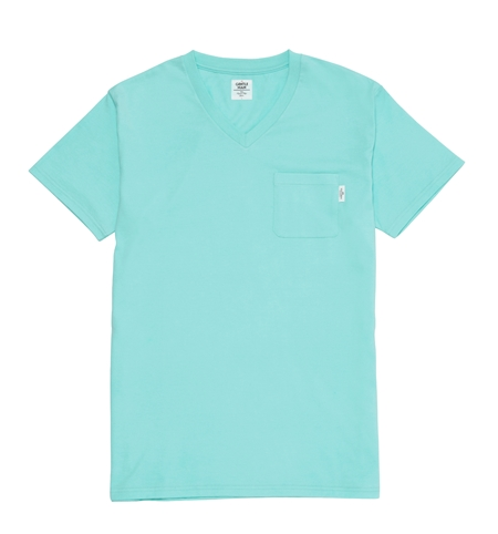 TE22 SOUVENIR V-NECK TEE ICE BLUE_R
