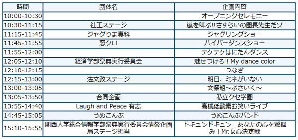 高槻キャンパス祭_スケジュールA