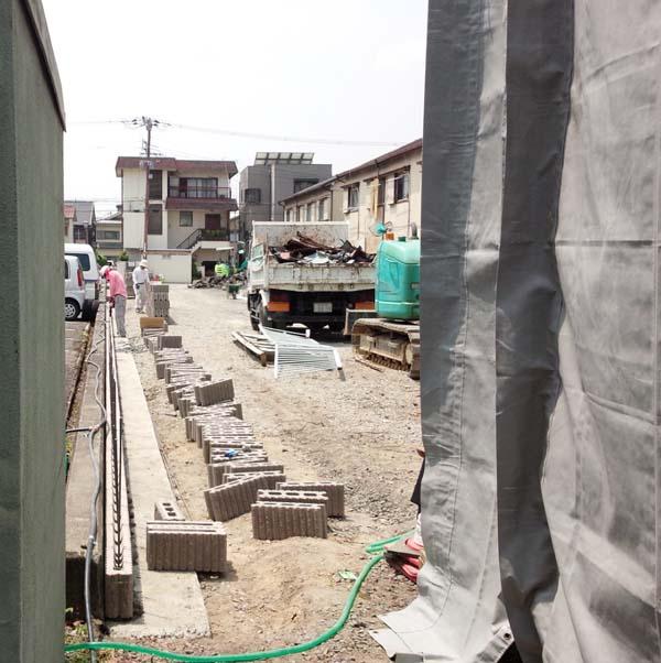 京口町11あたりの工事