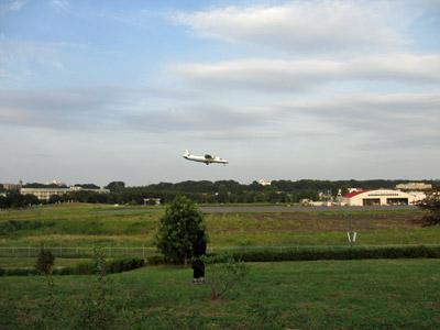 飛行機の観察