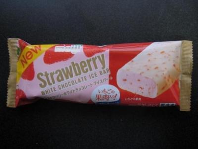 ストロベリーホワイトチョコレートアイスバー