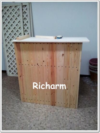 ハンドメイドショップ Richarm 堺市 DIY レジカウンター