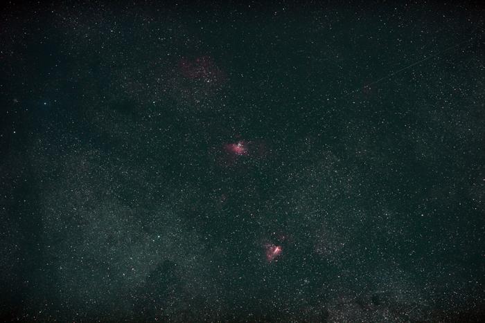 2014年4月2日 わし星雲とオメガ星雲