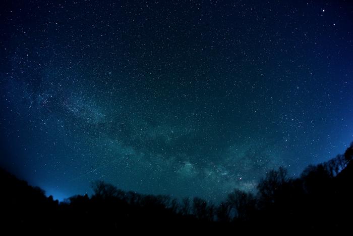 2014年4月2日 魚眼で捉えた天の川銀河