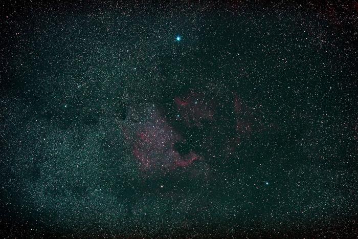 2014年4月2日 北アメリカ星雲とペリカン星雲