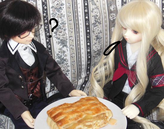 リンゴのケーキです