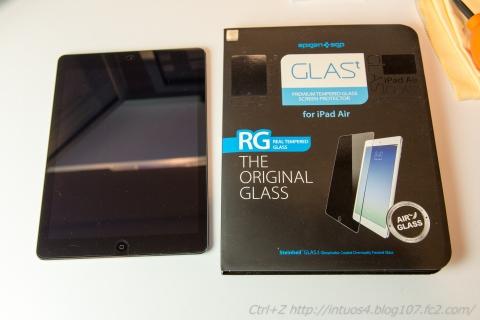 Spigen iPad air GLAS.t リアル スクリーン プロテクター≪強化ガラス液晶保護フィルム≫
