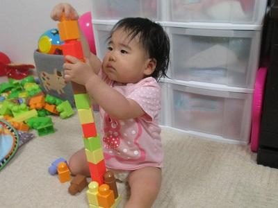 ブロックを積み上げる