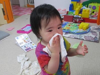 鼻水を拭くよ!