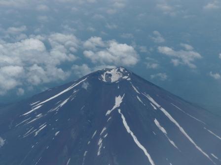 飛行機からの眺め 富士山 1