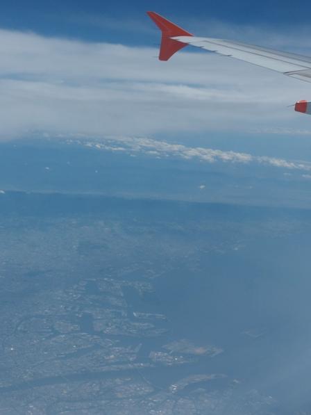 飛行機からの眺め 大阪あたり ?
