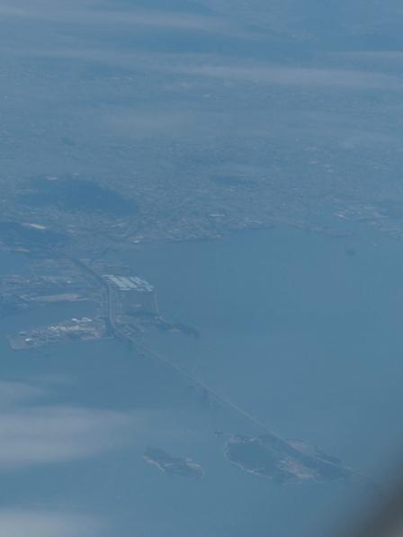 飛行機からの眺め 瀬戸大橋 1