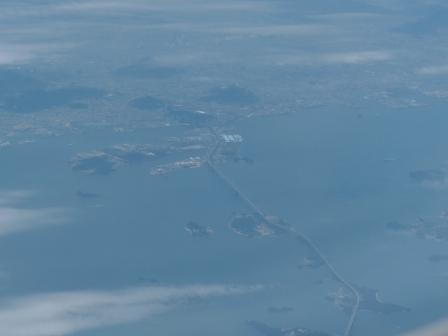 飛行機からの眺め 瀬戸大橋 2