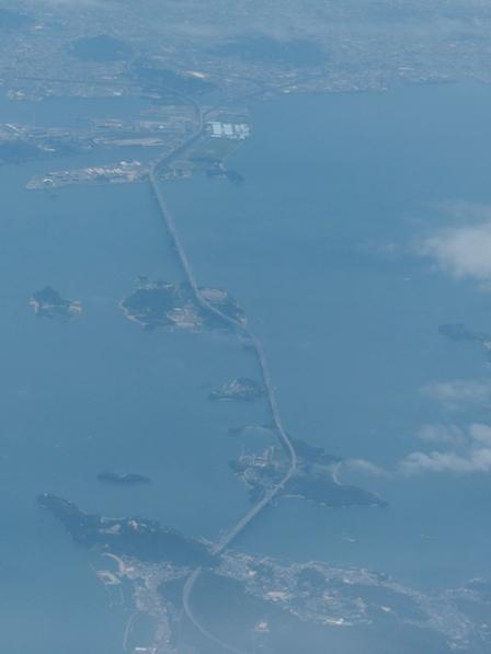 飛行機からの眺め 瀬戸大橋 3