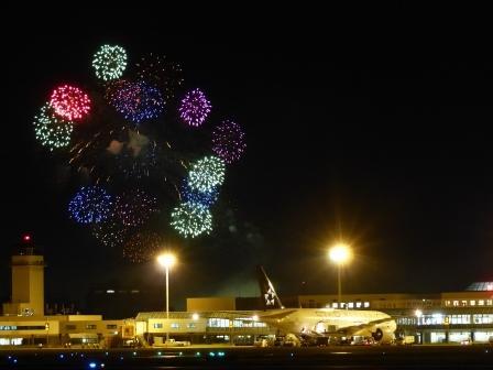 空港と花火 8