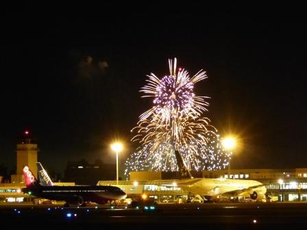 空港と花火 9