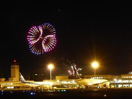 空港と花火 10
