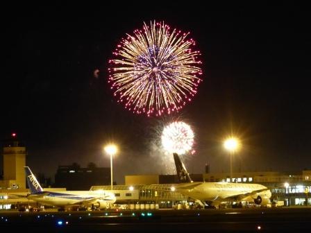 空港と花火 11