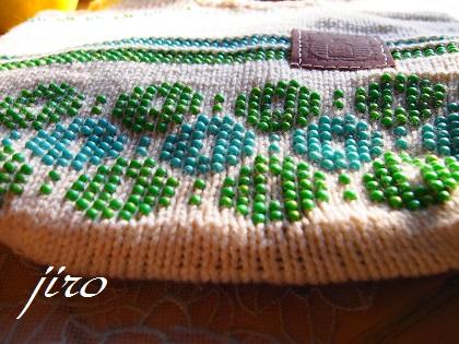 ビーズ編みバッグ‐輪和輪3