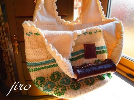 ビーズ編みバッグ‐輪和輪4