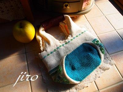 ビーズ編みバッグ‐輪和輪6