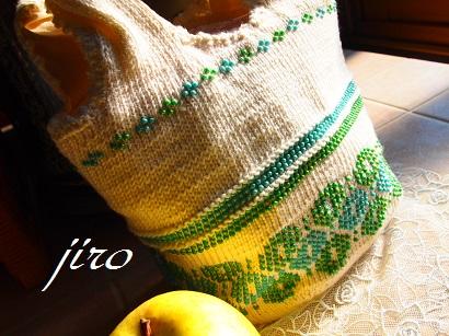 ビーズ編みバッグ‐輪和輪11