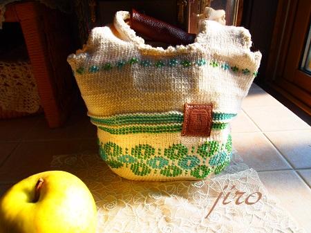 ビーズ編みバッグ-輪和輪13