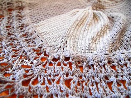 ビーズ編みストール-fishtail2