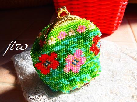 ビーズ編みがま口-flower garden.8