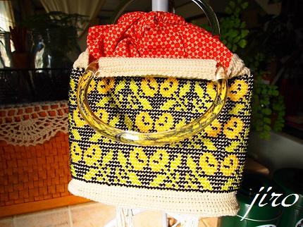 ビーズ編みバッグ-マリーゴールド浴衣バッグ.4
