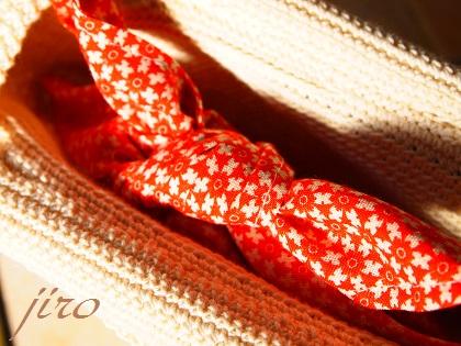 ビーズ編みバッグ-マリーゴールド浴衣バッグ.6