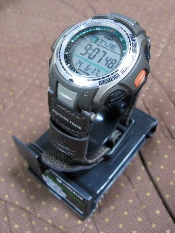 カシオ PAS-410B-5 バイブレーションアラーム 振動目覚まし タイマー 腕時計 使い方
